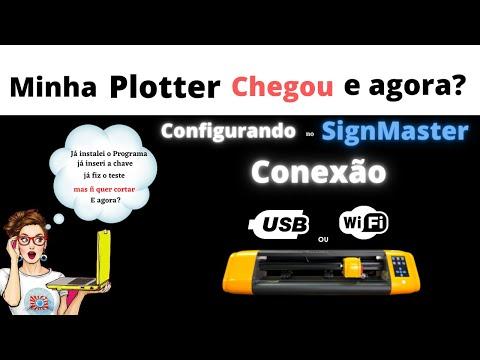 Conexão Wi-Fi ou USB -Bannercut/SignMaster